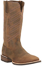 Ariat Men's Short Go Distressed Brown Square Toe Double Stitched Western Boots