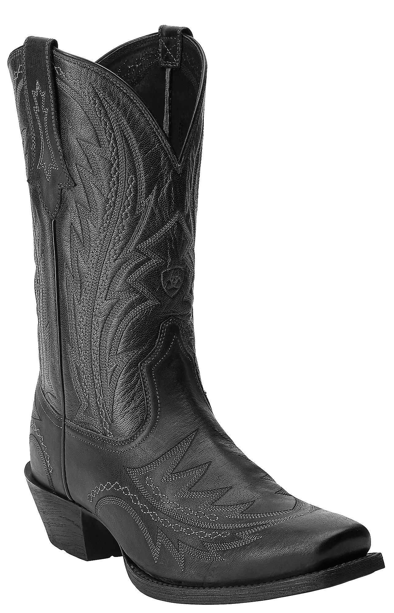 Black Square Toe Boots Mens Square Toe Western Boot