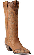 Ariat Western Women's Golden Tan Wingtip Snip Toe Western Boots
