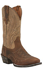 Ariat Legend Rocker Men's Earth Brown Punchy Square Toe Western Boot