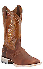Ariat Men's Mecate Rusted Wire with Yellow Appy Top Square Toe Triple Stitched Welt Western Boots