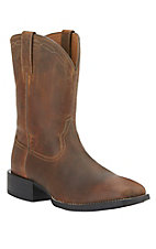 Ariat Men's Heritage Powder Brown Square Toe Roper Boots