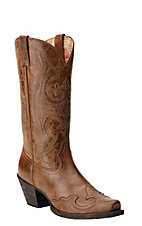 Ariat Women's Round Up Sandstorm Wingtip Snip Toe Western Boots
