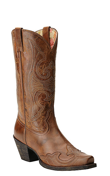 60e4e7caf80 Ariat Women's Round Up Sandstorm Wingtip Snip Toe Western Boots