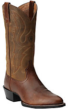Ariat Men's Sport Fiddle Brown R-Toe Western Boots