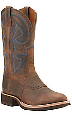 Aritat Men's Distressed Brown Quantum Crepe Sole Roud Toe Western Boots