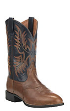 Ariat Heritage Stockman Men's Sandstorm with Arizona Sky Round Toe Western Boots