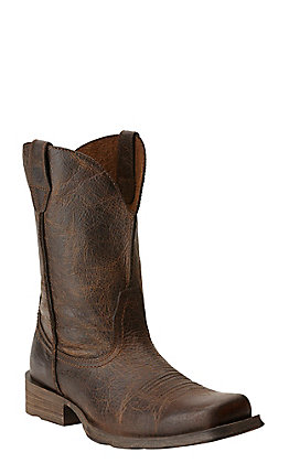 Ariat Rambler Men's Wicker Brown Square Toe Western Boots