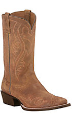 Ariat Men's River Walk Tan Oiled Gaucho Punchy Square Toe Western Boots