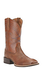 Ariat Men's Sport Sandstorm with Coyote Brown Top Wide Square Toe Western Boots