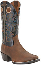 Ariat Men's Sport Earth with Black Top Punchy Square Toe Western Boot