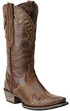Ariat Women's Zealous Sandstorm Brown Wingtip Snip Toe Western Boots