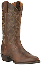 Ariat Heritage Men's Wicker Brown R-Toe Western Boots