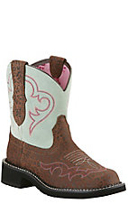 Ariat Women's Fatbaby Heritage Harmony Jaguar Print Fatbaby Western Boot