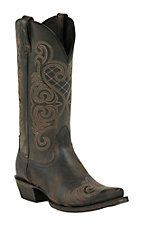 Ariat Rustic Black Bright Lights Snip Toe Western Boot