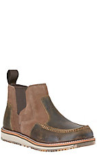 Ariat Last Chance Men's Distressed Teak with Suede Moc Toe Casual Shoe