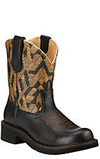 Ariat Fatbaby Heritage Vivid Women's Vintage Black with Gold Textile Top Western Boot