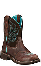 Ariat Fatbaby Heritage Dapper Women's Royal Chocolate with Fudge Top Western Boot