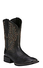 Ariat Sport Outfitter Men's Black Double Welt Square Toe Western Boots