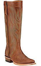 Ariat Lucinda Women's Rich Tan with Side Zip Tall Top Square Toe Western Boots
