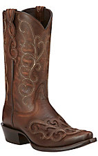 Ariat Rainey Women's Washed Maple with Overlay Snip Toe Western Boots