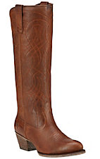 Ariat Singsong Women's Wood Brown Traditional Toe Tall Western Boots