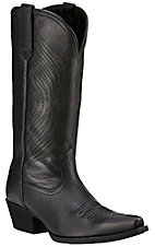 Ariat Round Up Women's Black Deertan Snip Toe Western Boot