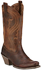 Ariat Lively Women's Sassy Brown Punchy Square Toe Western Boots