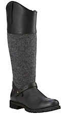 Ariat Sherborne H20 Women's Black with Tall Wool Upper Round Toe Boots