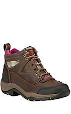 Ariat Terrain Endurance Women's Distressed Brown with Pink Camo Hiker Boots
