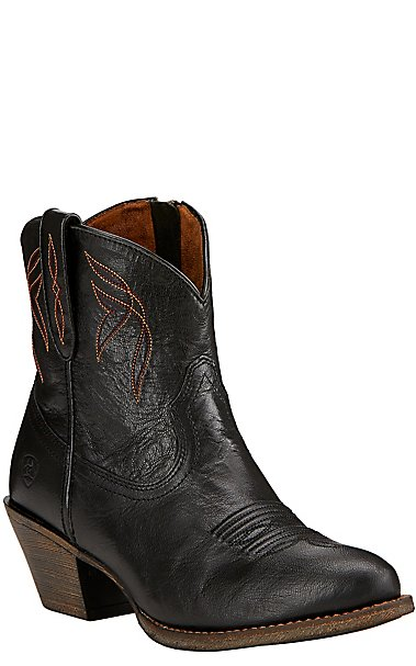 Ariat Darlin Women's Old Black Almond Toe Western Booties | Cavender's