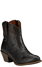 Ariat Darlin Women's Old Black Almond Toe 7in Western Boots