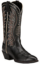 Ariat Ammorette Women's Old Black Traditional R-Toe Western Boots