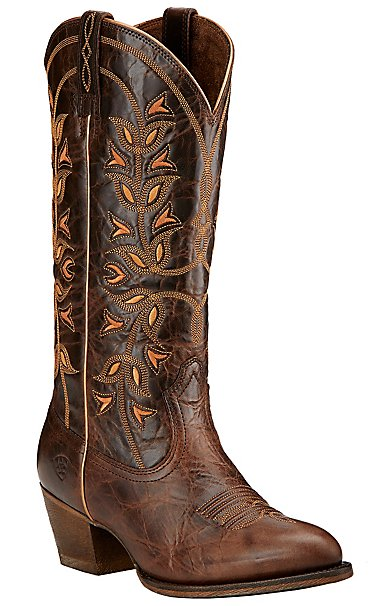 Ariat New West Women's Chocolate Chip Desert Holly Traditional Toe ...