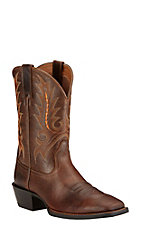 Ariat Sport Outfitter Men's Wicker Brown Double Welt Square Toe Western Boots