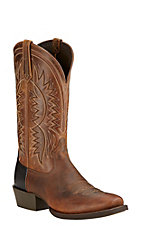 Ariat Troubadour Men's Powder Brown Punchy Square Toe Western Boots