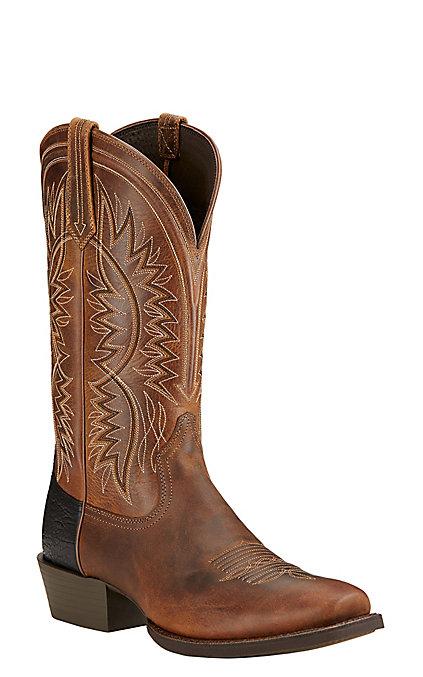 40b5fd0c7ee Ariat Troubadour Men's Powder Brown Punchy Square Toe Western Boots