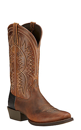 Ariat Troubadour Men's Powder Brown Punchy Square Toe Western Boots