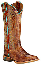 Ariat Vaquera Women's Saddle Tan Double Welt Square Toe Western Boots