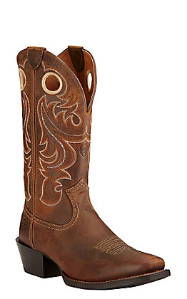 Ariat Sport Men's Powder Brown Punchy Square Toe Western Boot