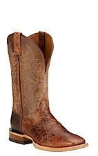 Ariat Cowhand Men's Adobe Clay with Taupe Double Welt Square Toe Western Boots