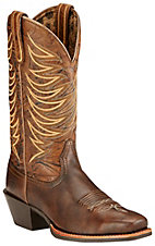 Ariat Legend Legacy Women's Brushed Brown with Black Mahogany Top Punchy Square Toe Western Boots