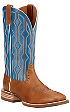 Ariat Live Wire Men's Copper Kettle with Royal Blue Double Welt Square Toe Western Boots