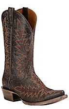 Ariat Brooklyn Women's Coffee Embroidered Snip Toe Western Boots