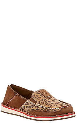 Ariat Women's Earth Brown & Cheetah Cruiser Shoe