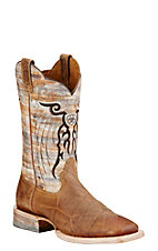 Ariat Mesteno Men's Marble Dust and Devil Tan Square Toe Western Boot