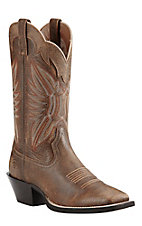 Ariat Women's Vintage Brown Bomber Round Up Wide Square Toe Western Boots