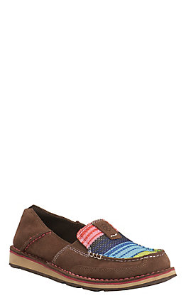 Ariat Cruiser Women's Palm Brown with Serape Mesh Moc Shoe