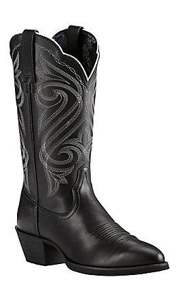 Ariat Women's Round Up Black R-Toe Western Boots