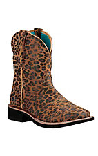 Ariat Fatbaby Heritage Women's Cheetah Print Square Toe Western Boots